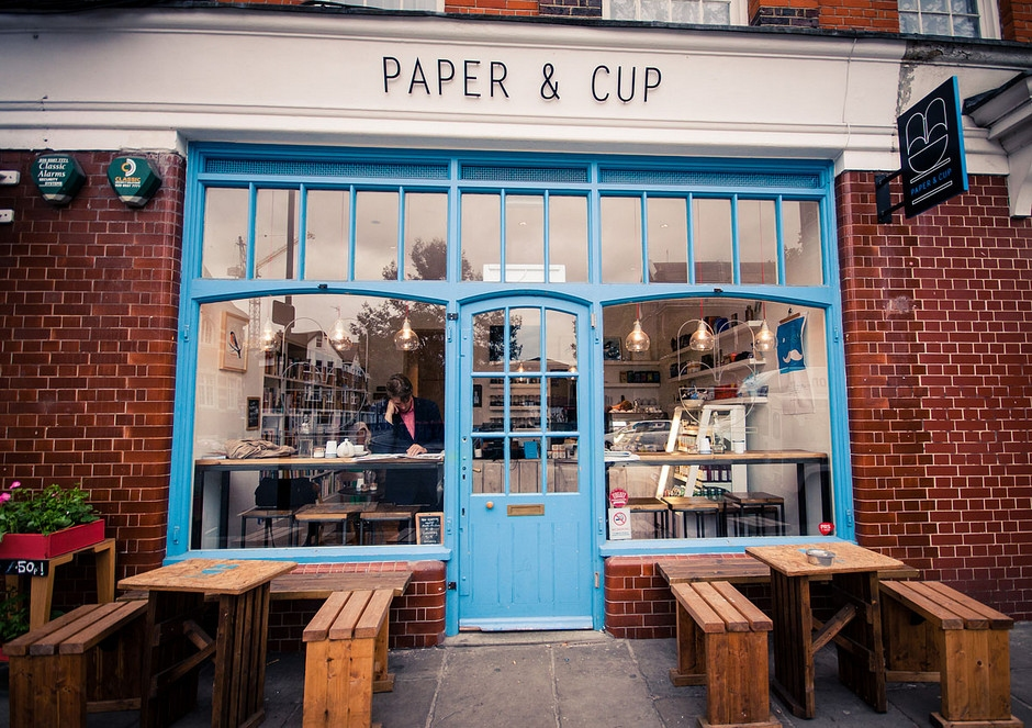 Paper and Cup outside kafetips London