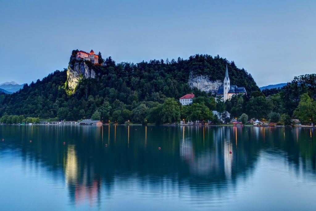 Lake Bled miljövänlig turism i Slovenien