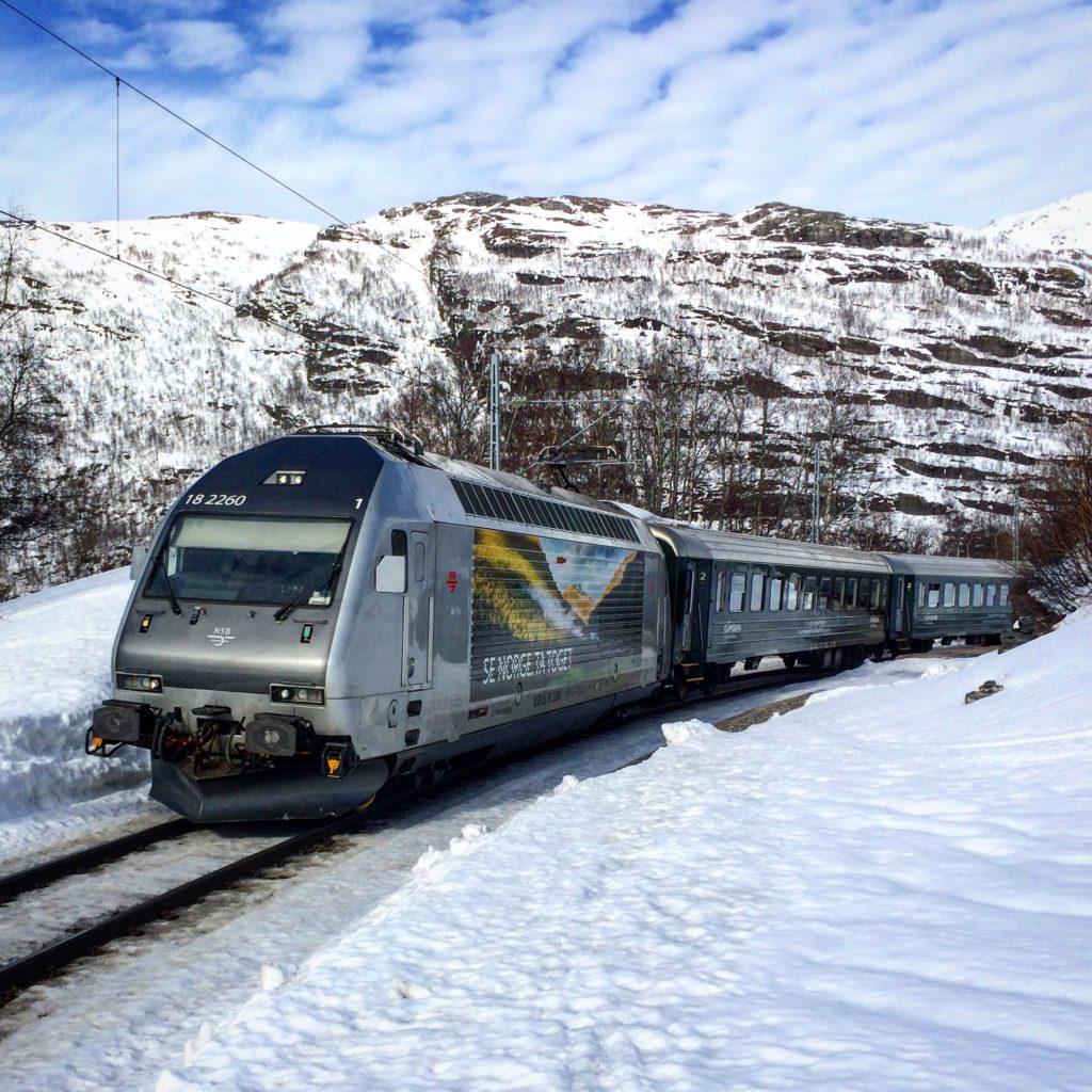 Klimatsmart skidåkning tåget till fjällen