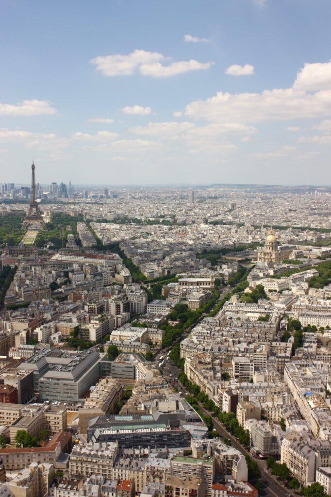 Utsikt Paris takåsar