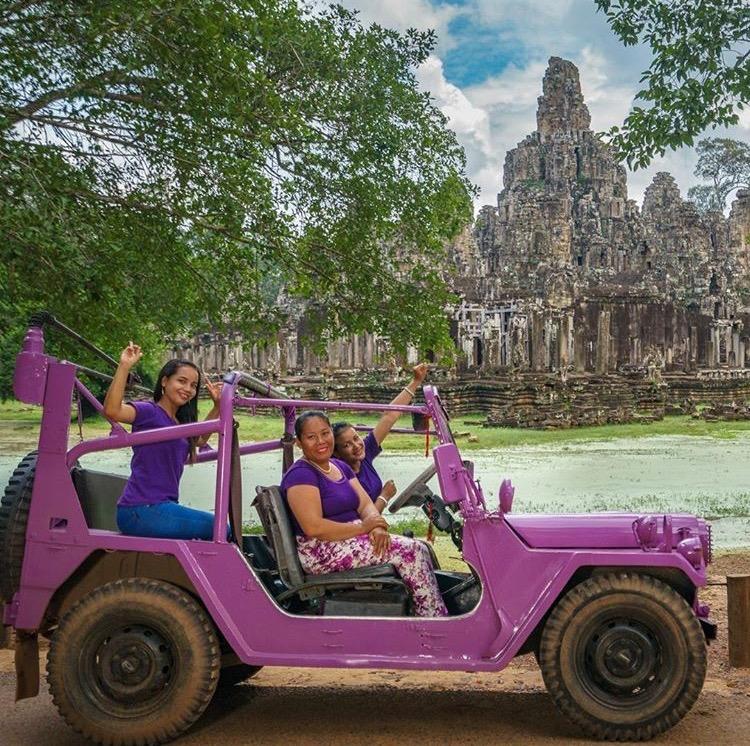 Lavender Jeep Kambodja Internationella kvinnodagen