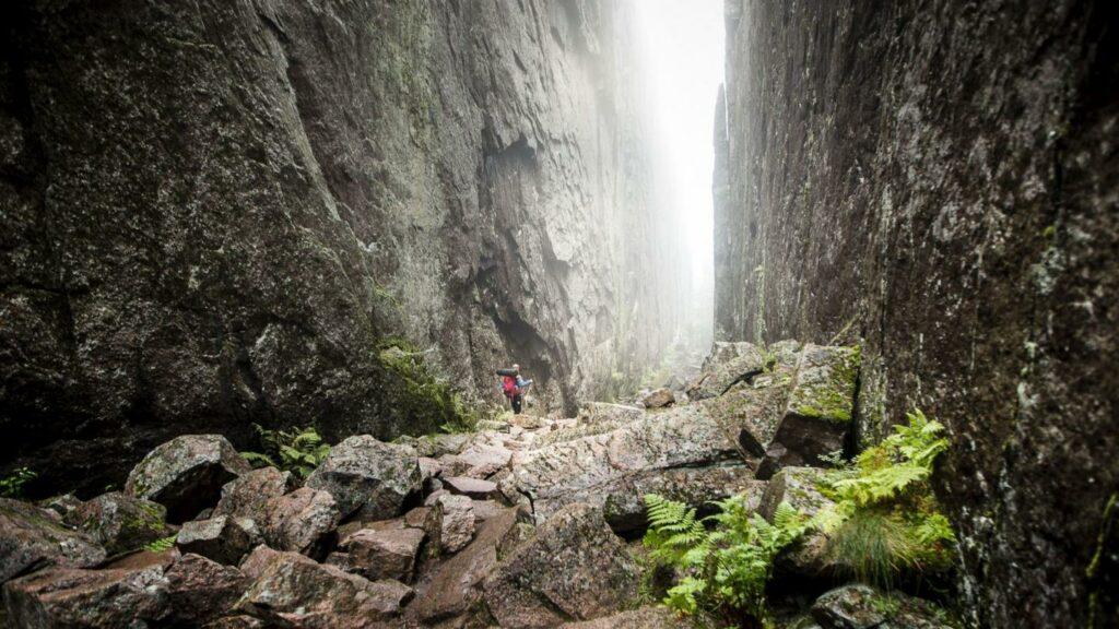 Skuleskogen och Slåttdalsskrevan, en del av världsarvet Höga Kusten.