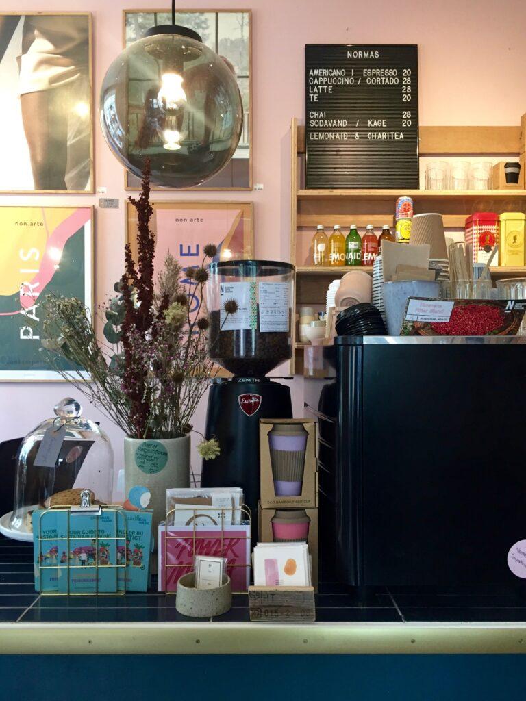 Normas shop, kaffe och deli på Saxogade Köpenhamn.