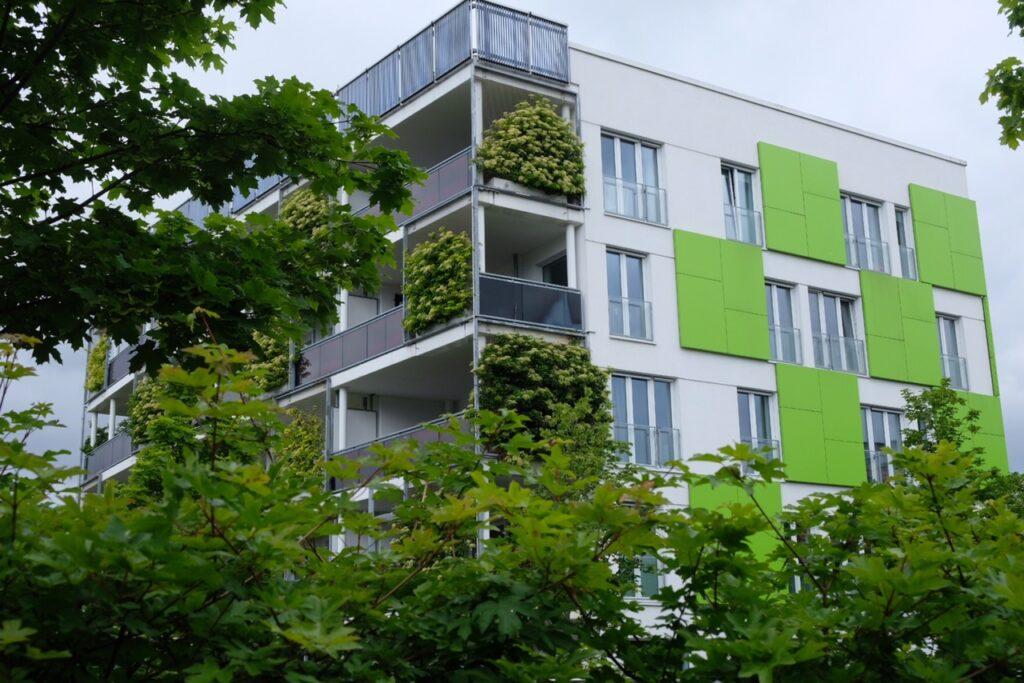 Klimatsmart hus i Wilhelmsburg.