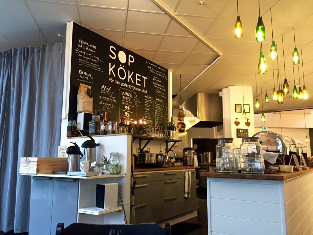 Interiör Sopköket schyst lunchrestaurang Stockholm