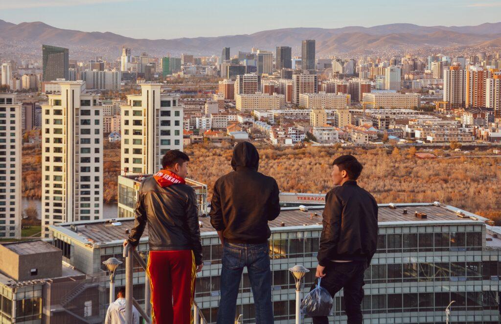 Människor Ulan Baatar Mongoliet en av tio etiska destinationer