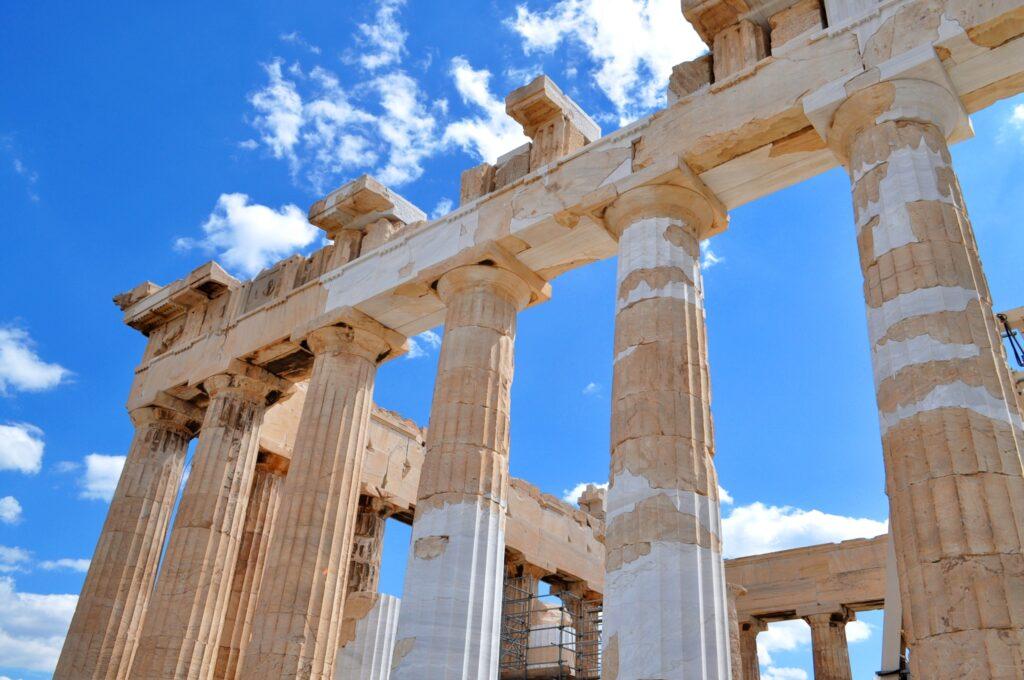 Delar av Parthenon