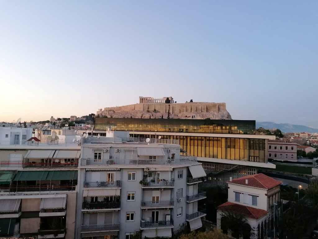 Vy över Aten och Akropolis