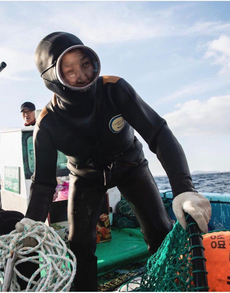 Haenyeo kvinna havet