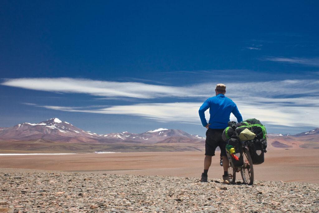 Lostcyclist på cykel genom världen